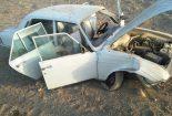 واژگونی سواری پیکان ۴ مصدوم در برداشت