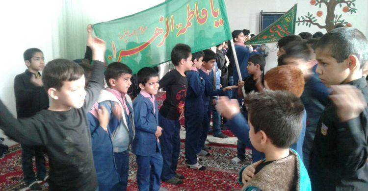 برگزاری مراسم عزاداری حضرت فاطمه زهرا (س ) در مدرسه پسرانه سما به روایت تصویر