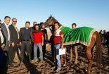 مسابقات کورس اسبدوانی در بافق برگزار شد