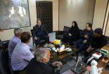 دیدار اعضای شورای روستای مبارکه بافق با فرماندار