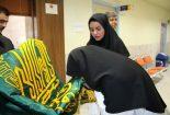 عیادت خادمان حرم مطهر امام رضا (ع) از بیماران بیمارستان بافق