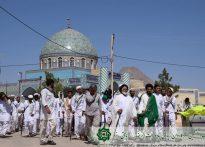 نهمین روز سفر کاروان پیاده امام رضا(ع) به روایت تصویر