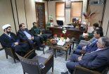 دیدار جمعی از مسئولان حوزه های بسیج بافق با فرماندار