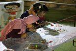 استقبال کودکان از غرفه زنده باد کودکی آبشار بافق