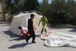 برگزاری آزمون ارتقا درجه نجاتگران هلال احمر شهرستان بافق