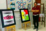 گزارش تصویری نمایشگاه آثار  طراحی هنرمند بافقی به مناسبت روز ملی یوزپلنگ ایرانی