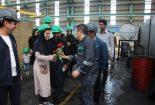 نخستین بازدید خانواده کارکنان مجتمع فولاد بافق از خط تولید این شرکت
