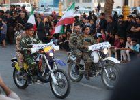 تصاویری از نمایش اقتدار نیروهای نظامی و انتظامی در بافق