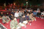 """مراسم """"شبی با خاطرات شهدا """" در بافق برگزار شد"""