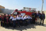 آموزش ایمنی و آتش نشانی در مدرسه سما دانشگاه آزاد اسلامی بافق