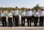 برگزاری مراسم صبحگاه پلیس بافق در هفته ناجا
