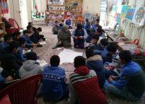 تصاویری از برگزاری کارگاه صنایع دستی دانش آموزان پایه هشتم مدرسه امام سجاد (ع) در مرکز جامع توانبخشی توانا