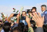 آغوش باز مردم و کارگران شرکت سنگ آهن مرکزی بافق برای رحیمی(تصویری)