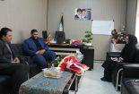 دیدار رئیس شورای هماهنگی تبلیغات اسلامی بافق با سرپرست اداره ورزش و جوانان