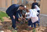 آئین درختکاری با دستان نوگلان مدرسه دخترانه سما دانشگاه آزاد اسلامی