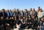بازدید رییس و اعضای هیات علمی دانشکده منابع طبیعی و کویرشناسی دانشگاه یزد از پروژه های در حال اجرای اداره منابع طبیعی بافق