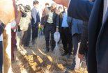 غرس نهال بادام کوهی و بنه در بام کوشک با حضور مدیرکل دفتر آبخیزداری و حفاظت خاک سازمان جنگلها، مراتع و آبخیزداری کشور