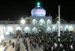 لحظه سال تحویل امامزاده عبدالله(ع) بافق(تصویری)