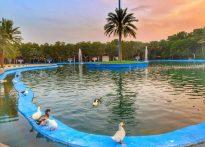 دریاچه پارک آهن شهر بافق از دریچه دوربین بابک موثق زاده