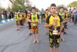 بدرقه کاروان زیارتی پیاده بسیجیان بیت الرضا(ع)به مشهد توسط نوجوانان ورزشکار زورخانه رحیم هدایت و قمربنی هاشم (ع) مبارکه