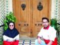 دوقلوهای امدادگر و داوطلب جمعیت هلالاحمر شهرستان بافق