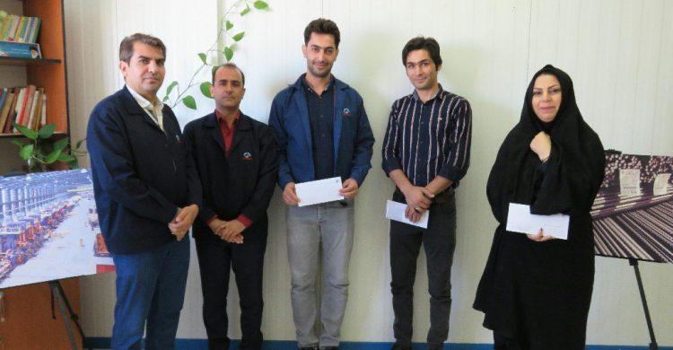 تقدیر از برگزیدگان مسابقه روز قلم در مجتمع فولاد بافق