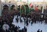 تصاویری از مراسم نخل برداری سیزدهم محرم آستان مقدس امامزاده عبدالله علیه السلام بافق