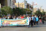 پیاده روی همگانی ۲ هزار نفری در بافق برگزار شد
