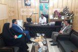 دیدار مدیر آموزش و پرورش شهرستان بافق با مدیر کل نوسازی و تجهیز مدارس استان یزد