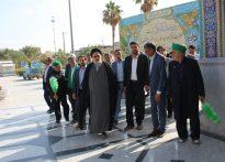 تصاویری از گردهمایی اعضای هیات امناء بقاع متبرکه استان یزد در امامزاده عبدالله(ع ) بافق