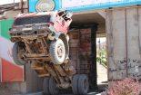 بنز شهرداری بافق طعمه دهانه تنگ پل پارک آبشار+تصاویر