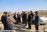 بازدید فرماندار بافق از مزرعه عسکریه