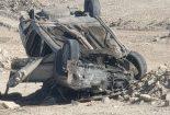 واژگونی خودرو سمند در محور یزد_ بافق و جان باختن راننده