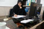 قدردانی زهرا زارعی مدرس حوزه علمیه و مسیول کانون دانش آموختگان الزهرا بافق از پرسنل زحمت کش بیمارستان