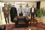 دیدار اعضای شورای اسلامی شهر بافق با مدیر عامل صندوق بازنشستگی فولاد کشور