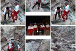 نجات فرد گیر افتاده در کوه های منطقه شادکام بافق