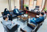 دیدار معاون سلامت اداره کل دامپزشکی استان یزد با مهندس شاه حسینی سرپرست فرمانداری شهرستان بافق