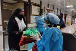 بیمارستان ولیعصر با پرچم متبرک شده به حرم حضرت زینب(س)وحضرت رقیه(س) متبرک شد