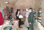 بازدید فرمانده ناحیه مقاومت بسیج شهرستان بافق از کارگاه های صنایع دستی