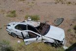 واژگونی پژو ۴۰۵ در محور یزد_بافق منجر به فوت دو نفر شد