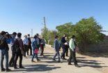 بازدید و حضور میدانی رئیس اداره منابع طبیعی با همراهی دادستان، بخشدار و برخی مسئولین شهرستان بافق در روستای گزستان