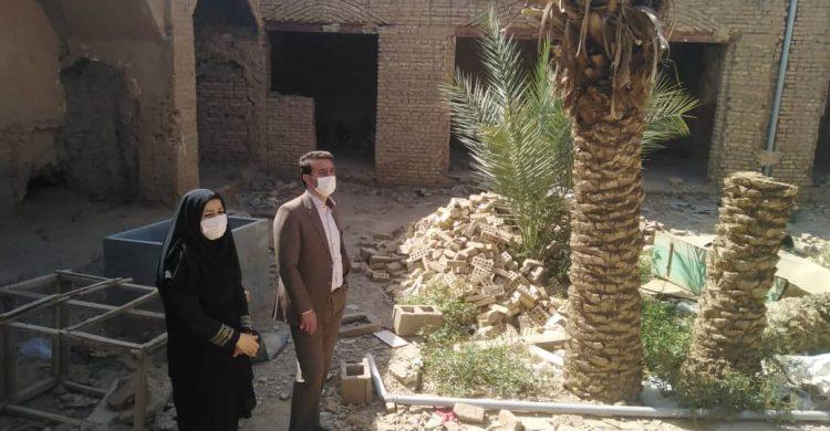 بازدید فرماندار بافق از پروژه های در دست اقدام اداره میراث فرهنگی