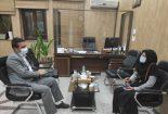 دیدار رئیس اداره بهزیستی با شهردار بافق